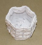 Tesselated box from graph paper. Sept. 2006