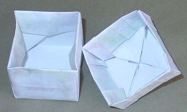 The inside of the box.  Note the underside of the tesselation type design.