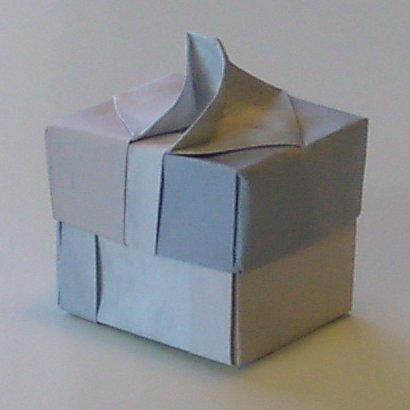 Handled box.  Side view - deep version.