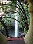The waterfall at el salto de san antonio