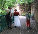 Tonya, Lalo and Tristan at the Rio Cuernavaca