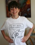 Sept 2006.  All of Tristan's favourite t-shirt.