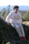 Jan 2007.  Rosemary and her cane on Mt Diablo.
