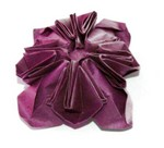 Box Pleat Flower 1 Designed and folded by R Lyndall Wemm Oct 2006