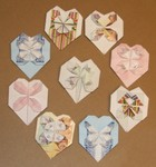 A collection of hearts from half sheets of American Letterhead paper.