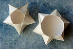 Five sided version of the coaster bowl designed and folded by John Andrisan.