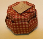 Octagonal Box.  Sept. 2006.  View of the bottom.  (Box is upside down.)