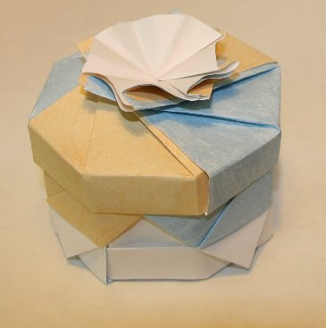 High Walled Octagonal.  Variant.  Designed and folded by Rosemary LYNDALL WEMM.  Sept 2006